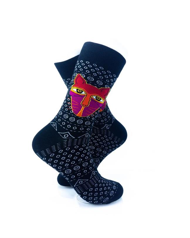 CoolDeSocks Tribal - Cat in Black Socks right view image