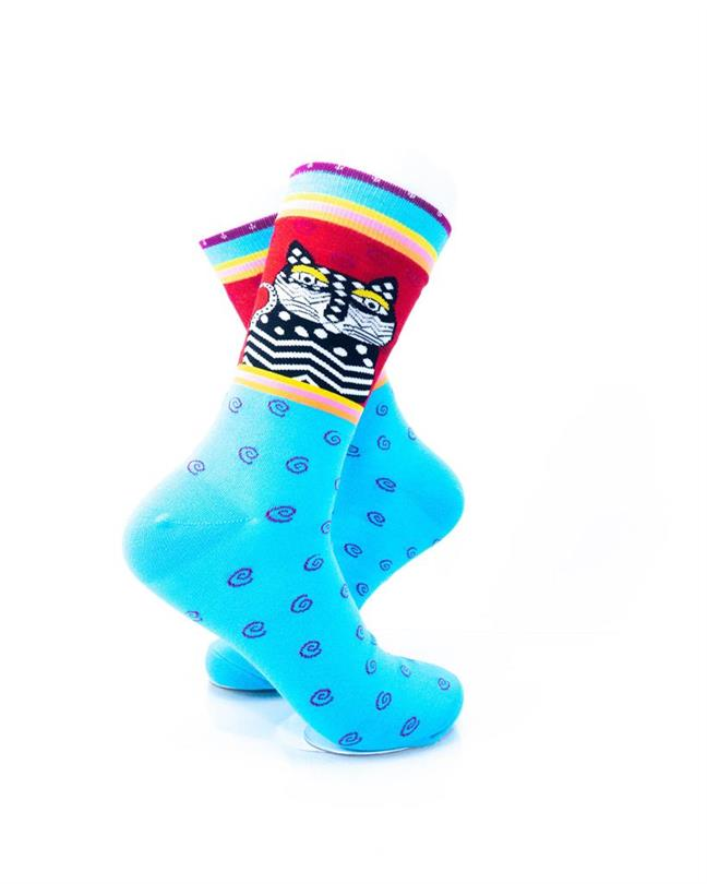 CoolDeSocks Tribal - Cat in Blue Socks right view image