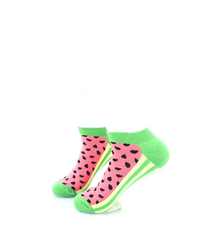 CoolDeSocks Watermelon Ankle Ankle Socks left view image