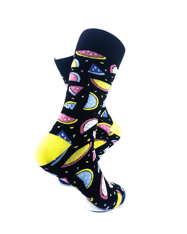 cooldesocks watermelon colorful slices crew socks right view image