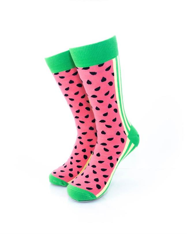 cooldesocks watermelon crew socks front view