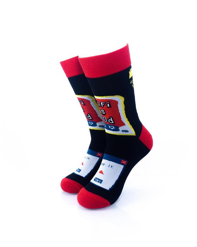 CoolDeSocks Wifi is God Socks front view image