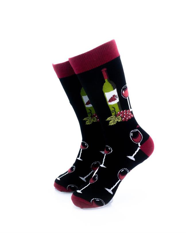 CoolDeSocks Wine Lover Socks front view image