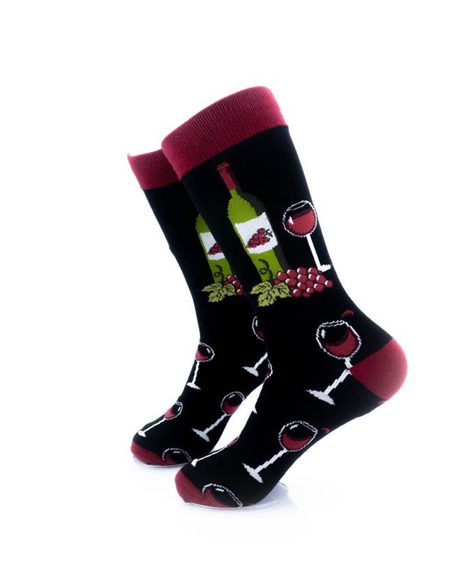CoolDeSocks Wine Lover Socks left view image