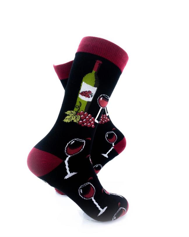 CoolDeSocks Wine Lover Socks right view image