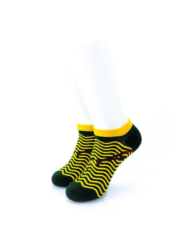 CoolDeSocks Yellow Ripples Socks front view image