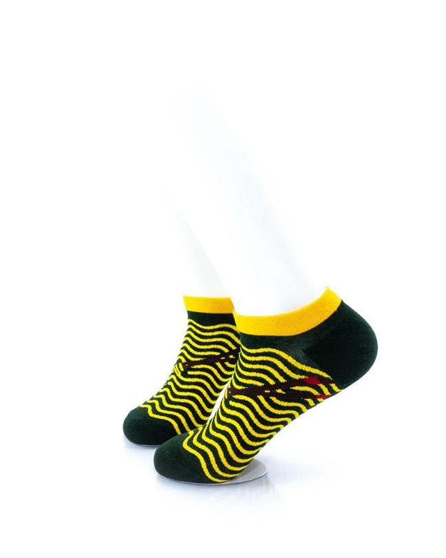 CoolDeSocks Yellow Ripples Socks left view image