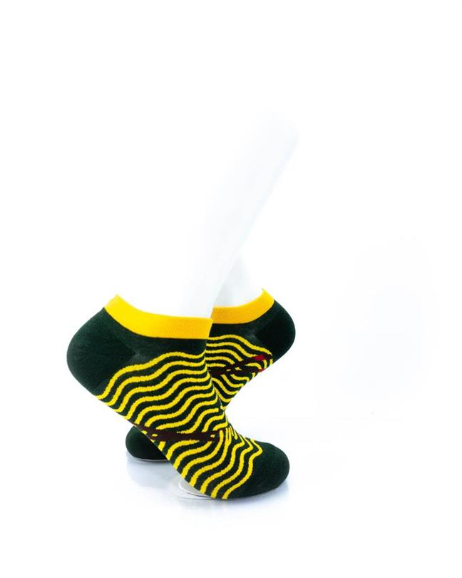CoolDeSocks Yellow Ripples Socks right view image