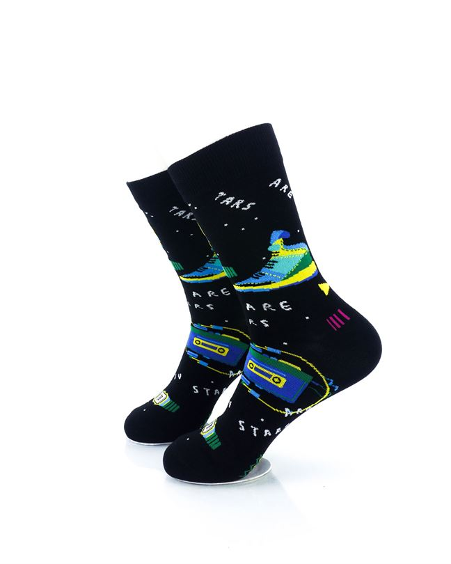 CoolDeSocks You Are Stars Crew Socks left view image