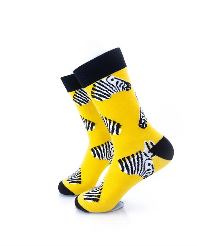 CoolDeSocks Zebra Socks left view image
