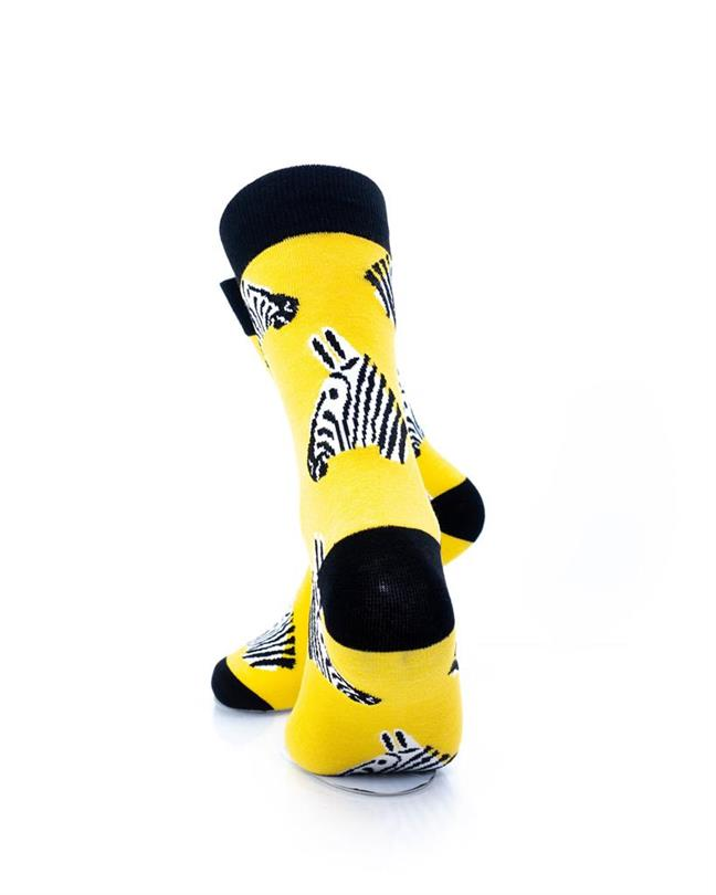 CoolDeSocks Zebra Socks rear view image