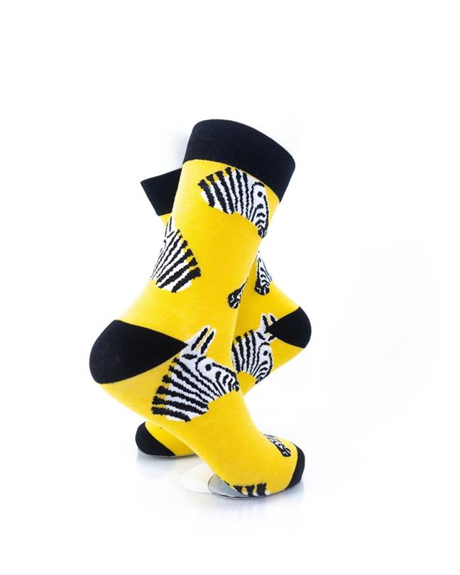 CoolDeSocks Zebra Socks right view image