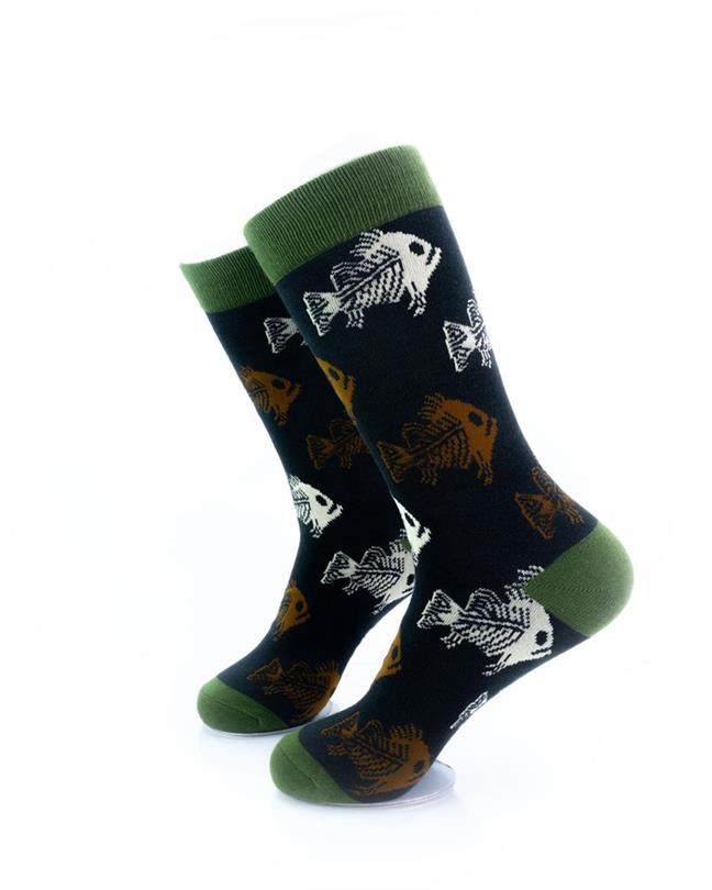 cooldesocks zombie fish crew socks left view