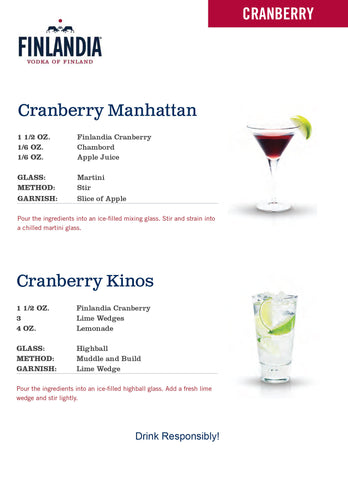 cranberry manhatan and kinos