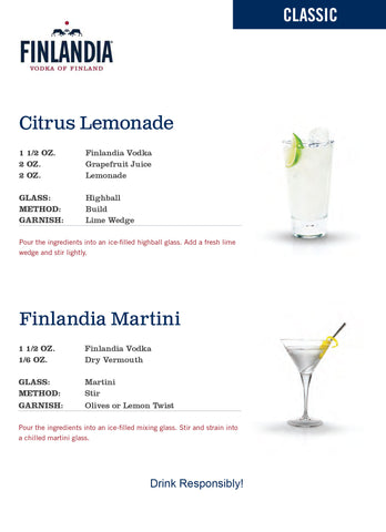 citrus lemonade finlandia martini