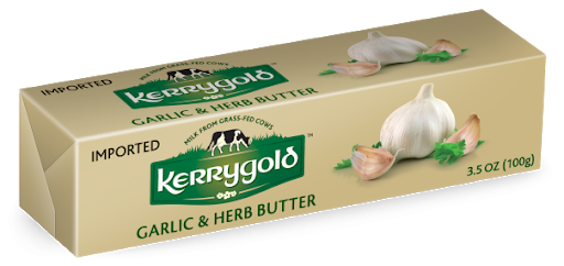 KERRYGOLD BUTTER SPREADABLE GARLIC & HERB RETAIL PACK 100G