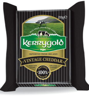 KERRYGOLD CHEDDAR CHEESE VINTAGE RETAIL PACK 12/200G