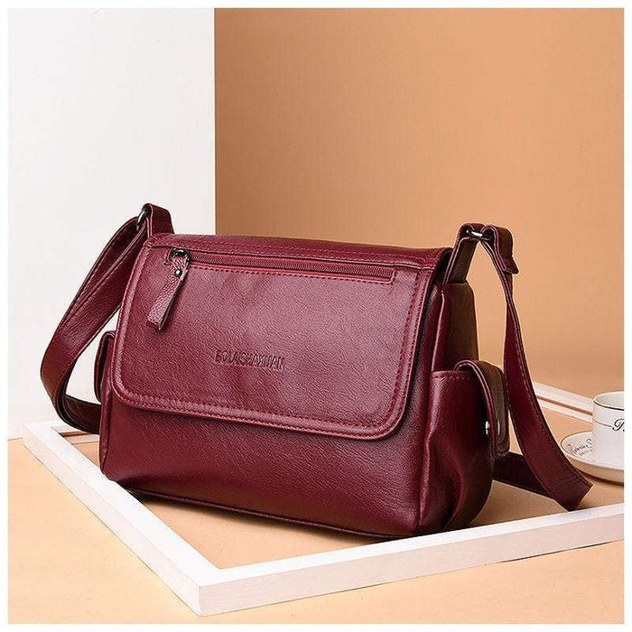 Women Retro PU Leather Crossbody Bags