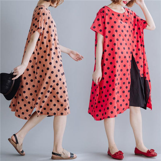 2019 New Summer Literary Plus Size Women's Fashion Comfortable Long Dress