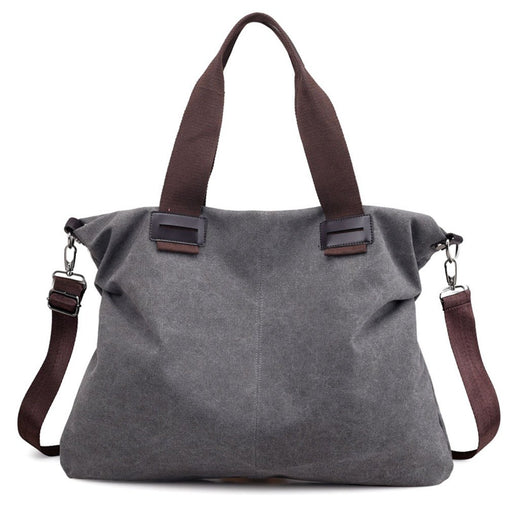 Women's Vintage Hobo Canvas Daily Shoulder Tote Handbag