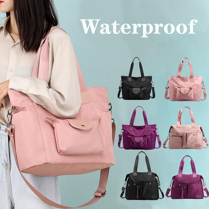 Korean Style Simple Waterproof Oxford Nylon Large Capacity Shoulder Bag