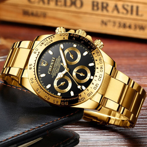 Men Golden Luxury Watches 2019 Fashion Simple Analog Quartz Wrist Watches
