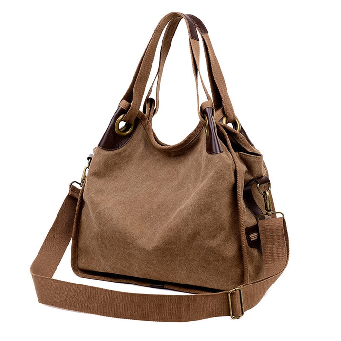 Fashion Canvas Large Capacity Women Handbag