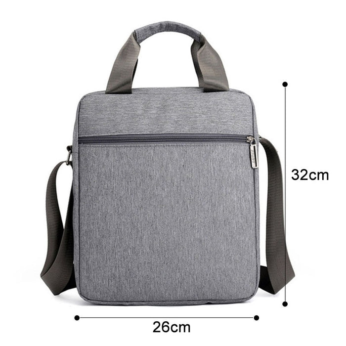 Men Waterproof Shoulder Bags Multi-function Large Business Crossbody Casual Bag