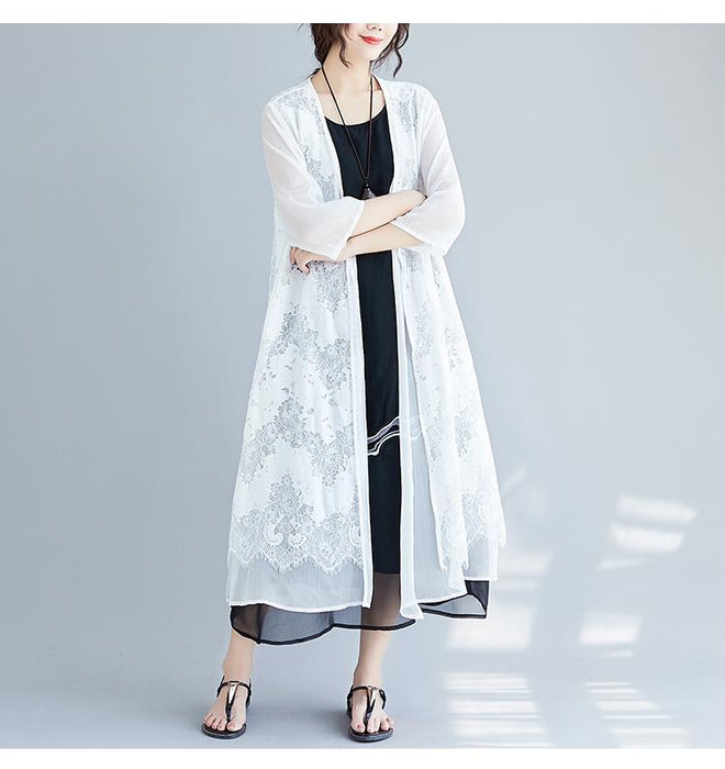 2019 Summer Dress New Korean Fashion Loose Chiffon Long Sleeveless Dress