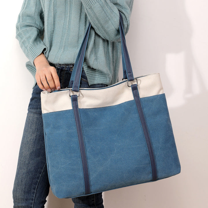【Buy 1 get free wallet】Fashion Women Canvas Large Capacity Handbag