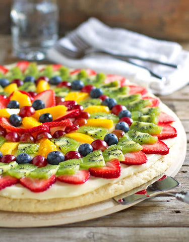 8 Ways to Make Cooking with Kids Fun fruity pizza