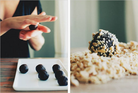 Healthy Sweet Snacks for Kids almond date truffles