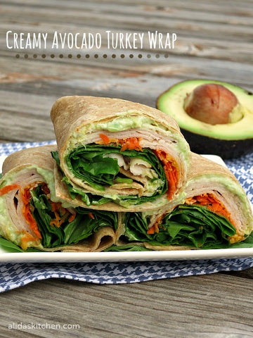 School Lunch Ideas You And Your Kids Will Love avocado turkey wrap