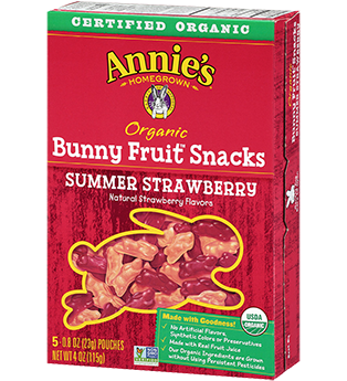 best snacks for kids annies bunny fruit snacks strawberry