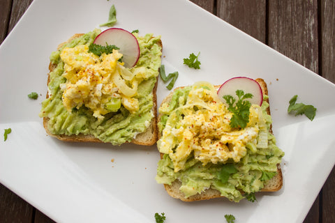 School Lunch Ideas You And Your Kids Will Love avocado and eggs on toast