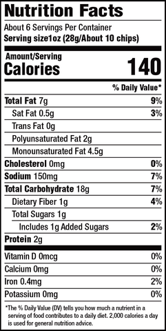 riceworks sweet chili chips variety fun snack boxes nutritional information