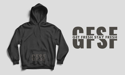 Men's Get Fresh Stay Fresh Black/Gray Hoodie