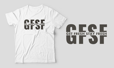 Fitted Men's Get Fresh Stay Fresh Black/White T-Shirt