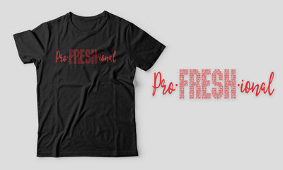 "Fitted Men ""Pro-Fresh-ional"" Black/White T-Shirt"