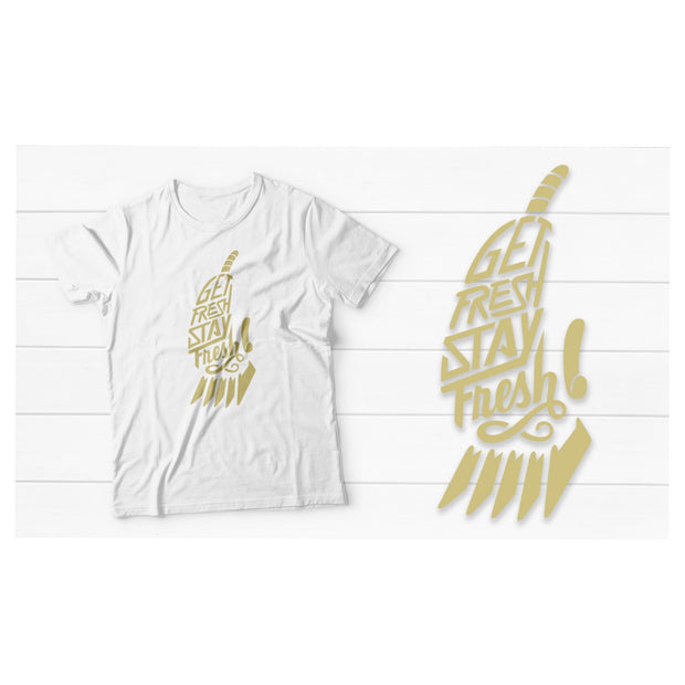 Fitted Men's Barber T-Shirt with Gold Clipper