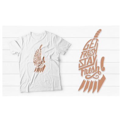 Fitted Men's Barber T-Shirt with Rose Gold Clipper