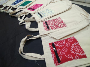 Eco friendly canvas bags for vegetables