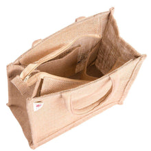 Load image into Gallery viewer, Eco friendly Jute lunch bag