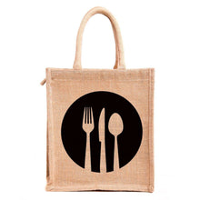 Load image into Gallery viewer, Eco friendly Jute luch bags