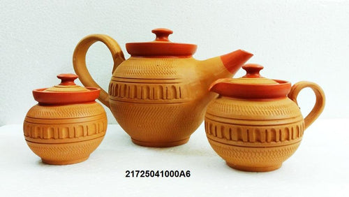 Terracotta Teapot set