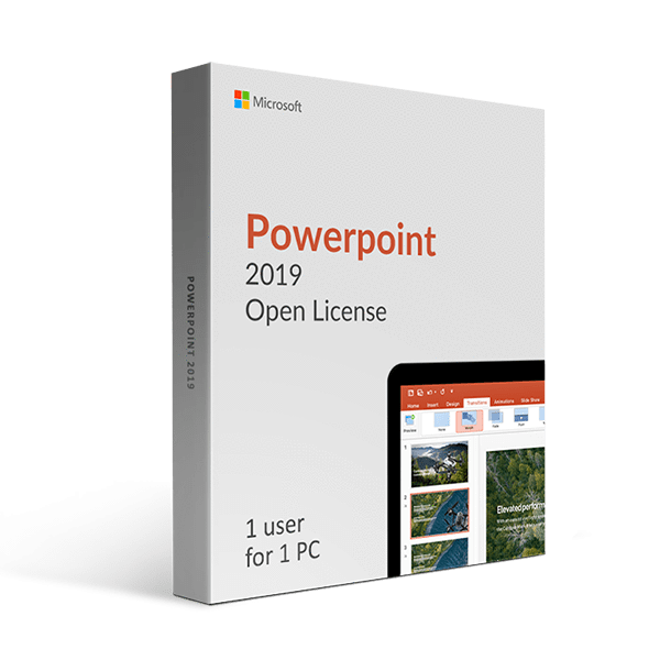 Microsoft Microsoft Powerpoint 2019 Open License
