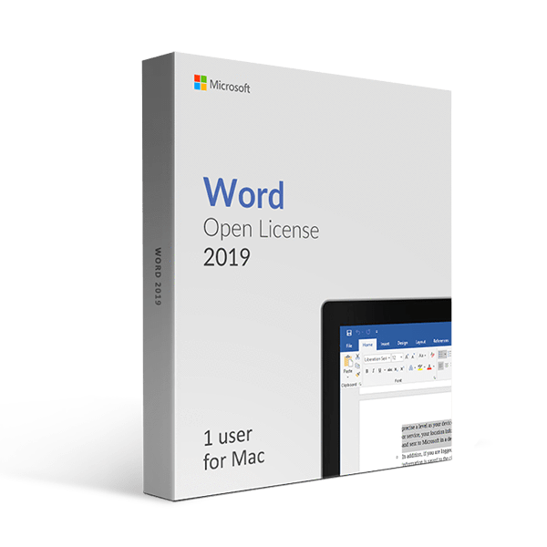 Microsoft Microsoft Word 2019 For Mac Open License
