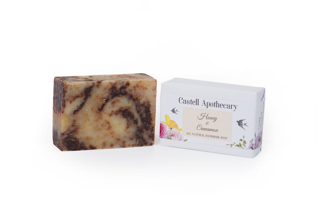 Castell Apothecary Honey & Cinnamon Natural Handmade Soap