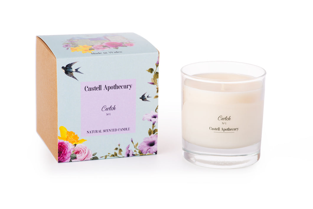 Castell Apothecary Cwtch Lotus & Lily Candle in a Glass