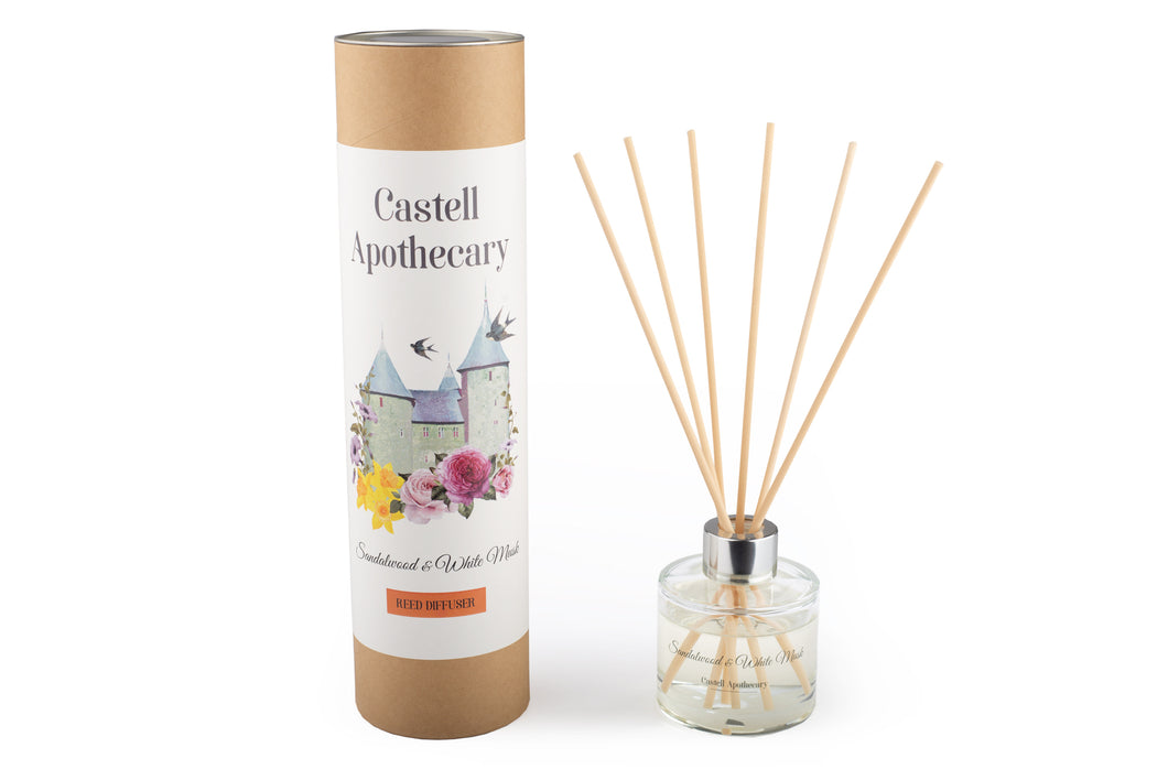Castell Apothecary Sandalwood & White Musk Reed Diffuser